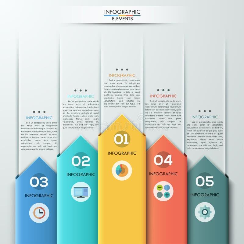 Bandera de papel moderna de las opciones del estilo de la flecha stock de ilustración