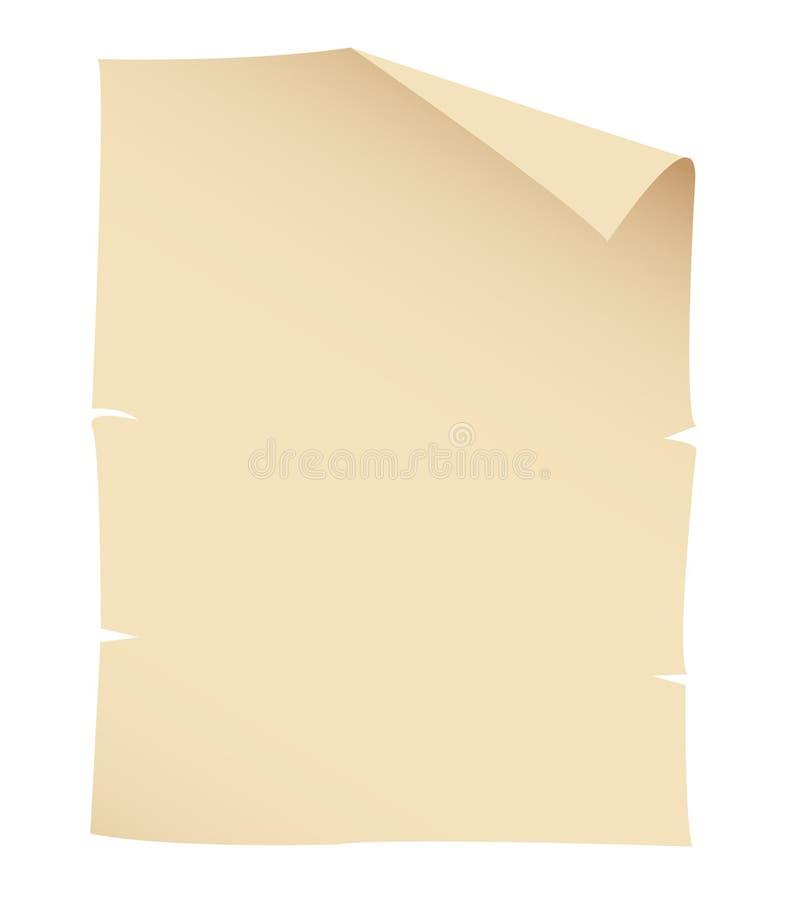 Bandera de papel vieja stock de ilustración