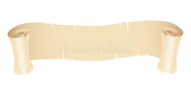 Bandera de papel vieja libre illustration
