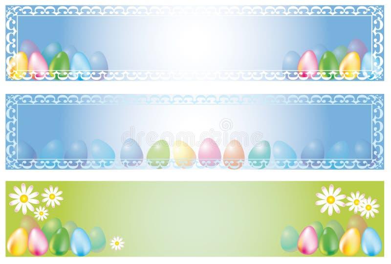 Bandera de Pascua ilustración del vector