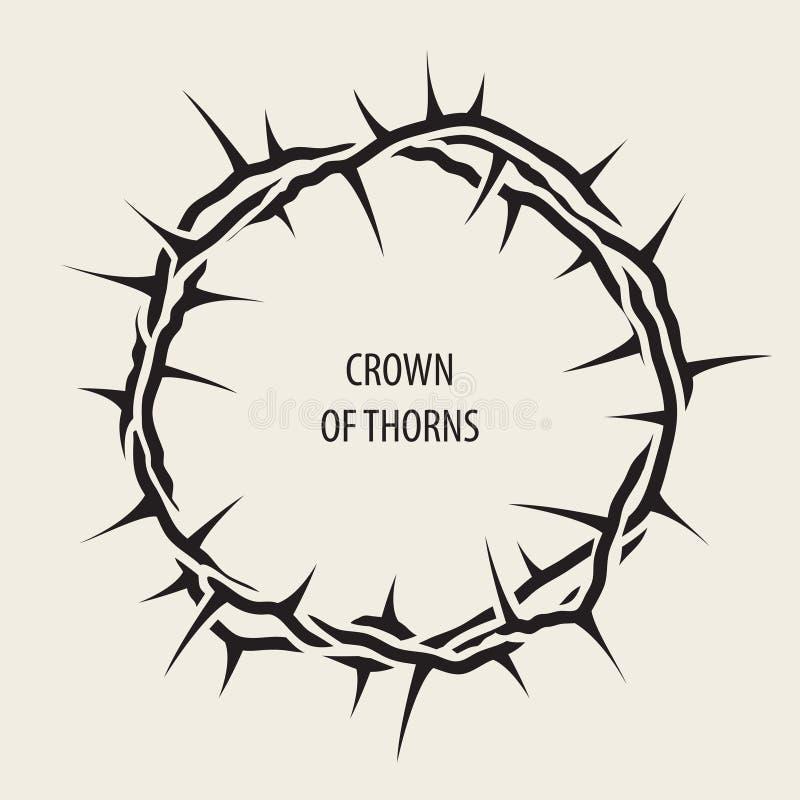 Bandera de Pascua con la corona de espinas negra libre illustration