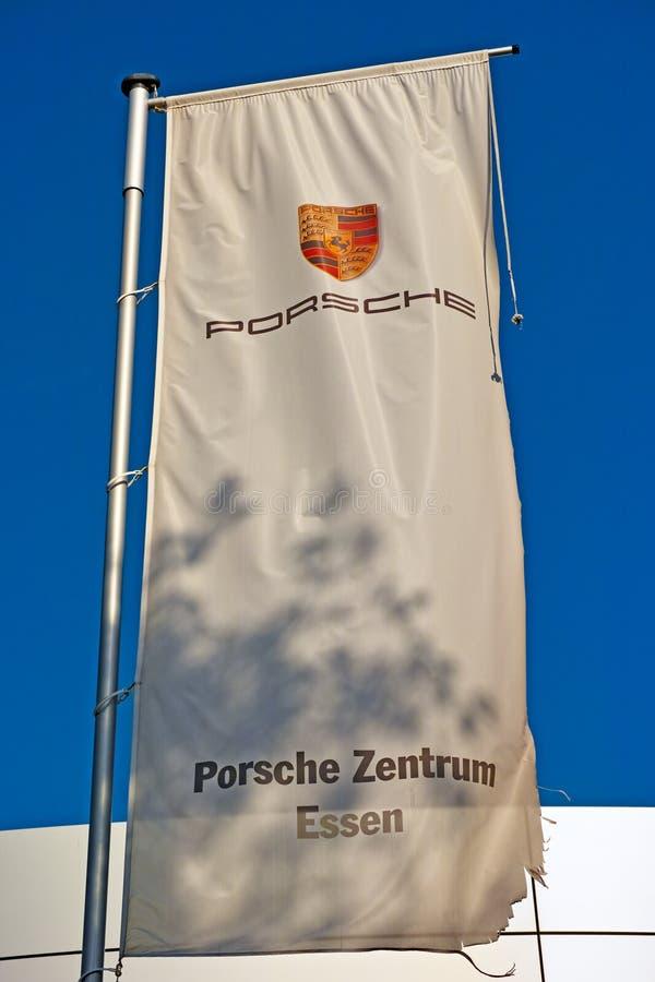 Bandera de Porsche imagenes de archivo