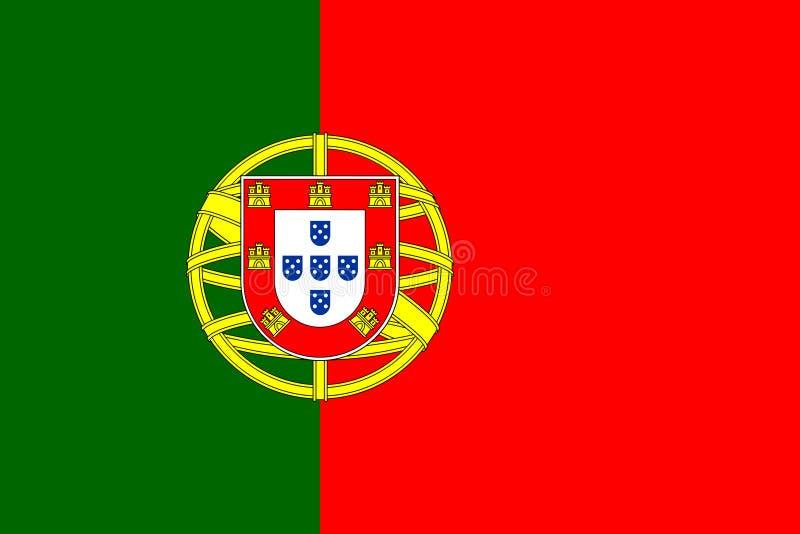 Bandera de Portugal en colores oficiales y con la relación de aspecto de 2:3 libre illustration