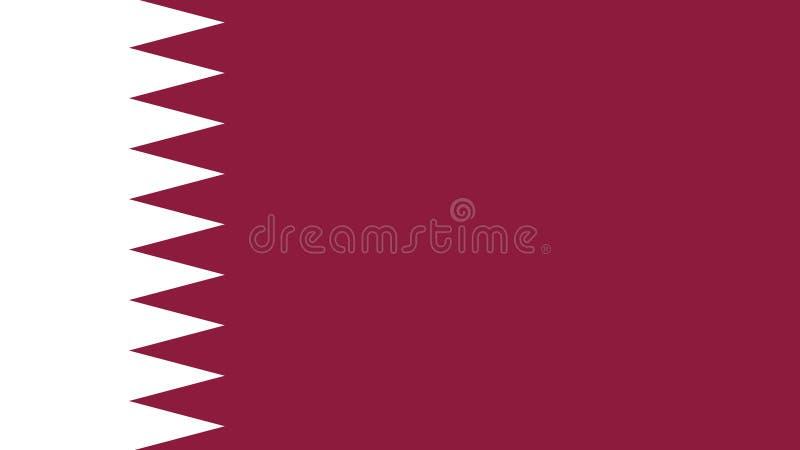 Bandera de Qatar, golfo árabe stock de ilustración
