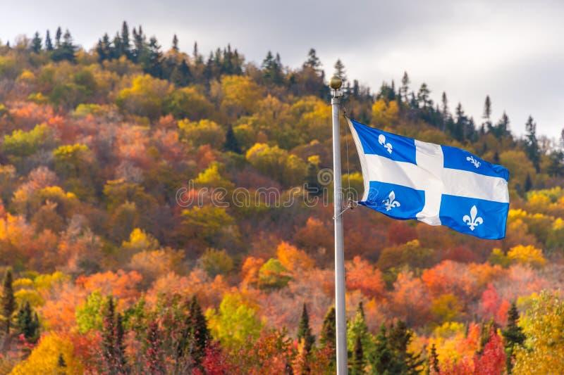 Bandera de Quebec fotografía de archivo