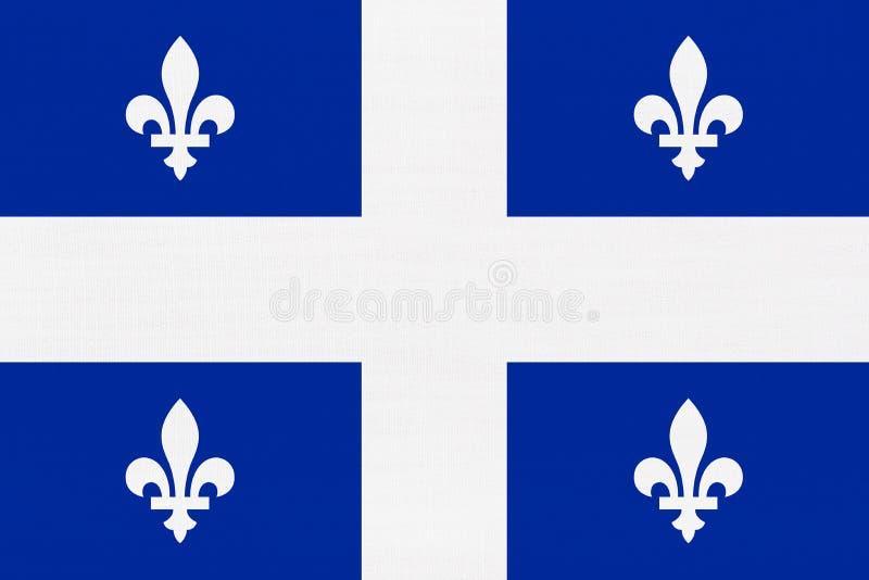 Bandera de Quebec imagen de archivo libre de regalías
