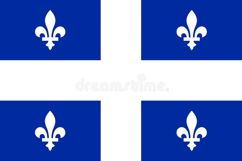 Bandera de Quebec ilustración del vector