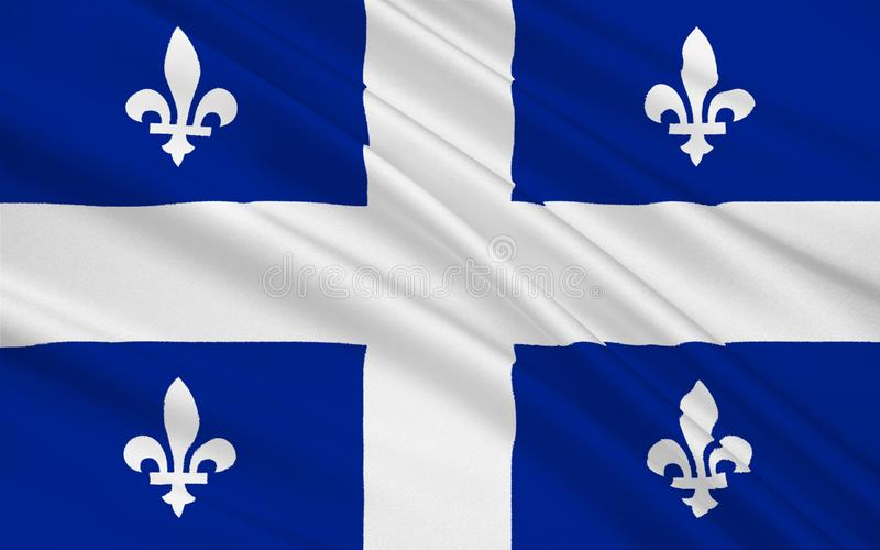 Bandera de Quebec, Canadá libre illustration