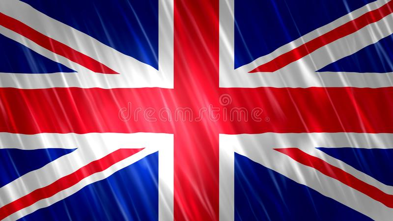 Bandera de Reino Unido stock de ilustración