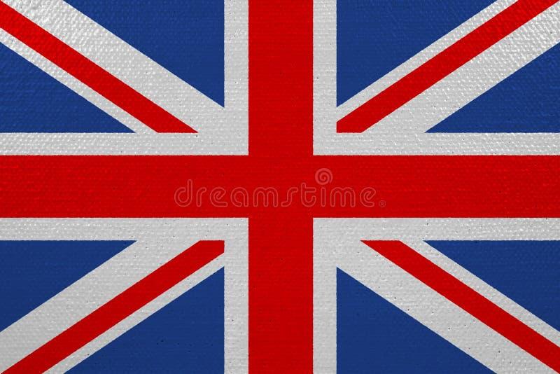 Bandera de Reino Unido en lona ilustración del vector