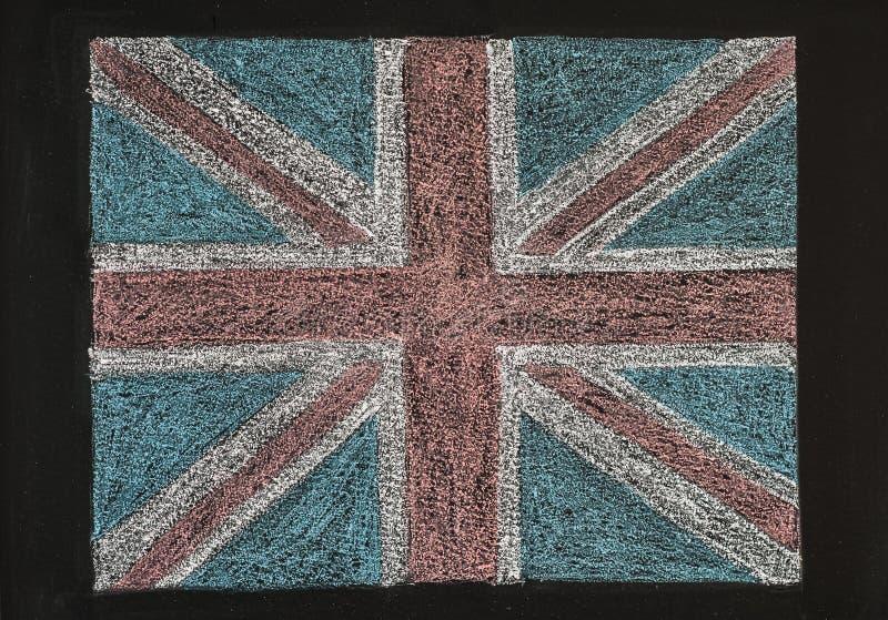 Bandera de Reino Unido (Union Jack británico) imagen de archivo libre de regalías