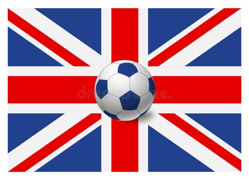 Bandera de Reino Unido y balón de fútbol libre illustration