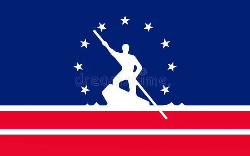 Bandera de Richmond en Virginia, los E.E.U.U. fotografía de archivo libre de regalías