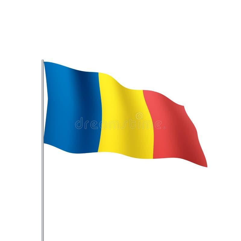 Bandera de Rumania, ejemplo del vector stock de ilustración