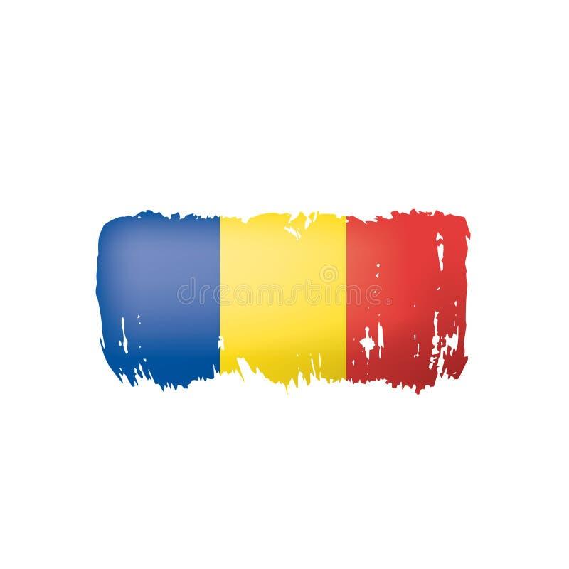 Bandera de Rumania, ejemplo del vector en un fondo blanco ilustración del vector