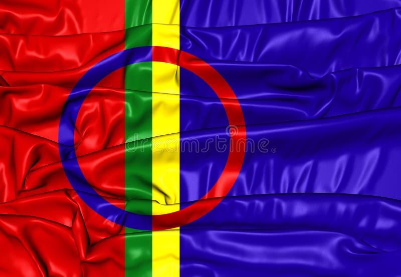 Bandera de Sami ilustración del vector