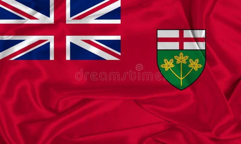 Bandera de seda de Ontario imagenes de archivo