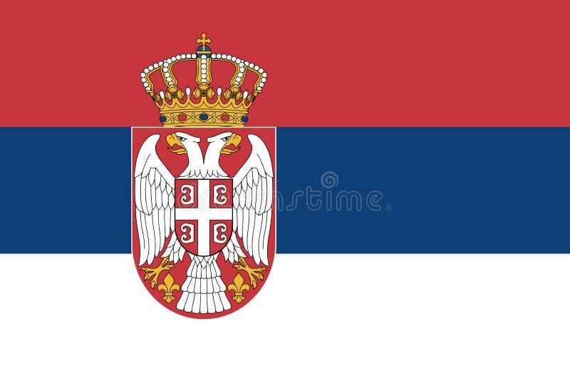 Bandera de Serbia en colores oficiales y con la relación de aspecto de 2:3 libre illustration