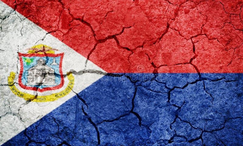 Bandera de Sint Maarten ilustración del vector