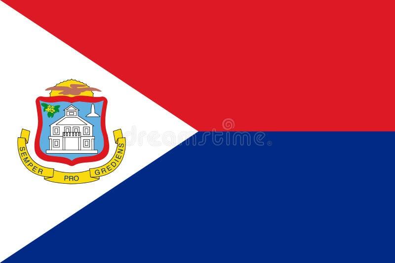 Bandera de Sint Maarten Ilustraci?n del vector Bandera del mundo stock de ilustración