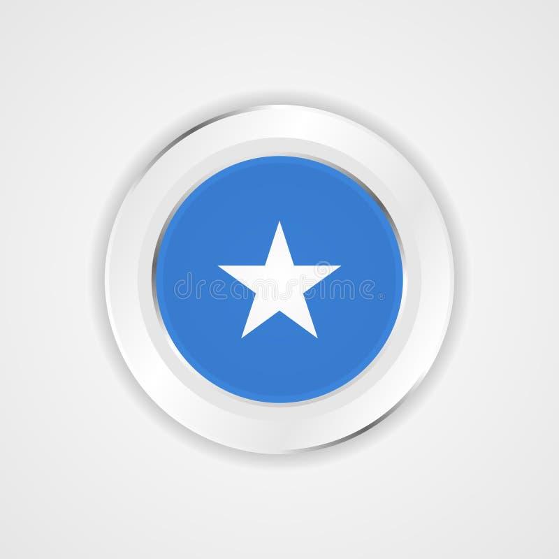 Bandera de Somalia en icono brillante libre illustration