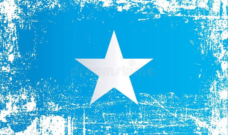 Bandera de Somalia, Rep?blica federal de Somalia Puntos sucios arrugados libre illustration