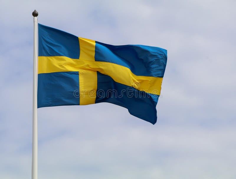 Bandera De Suecia imagenes de archivo