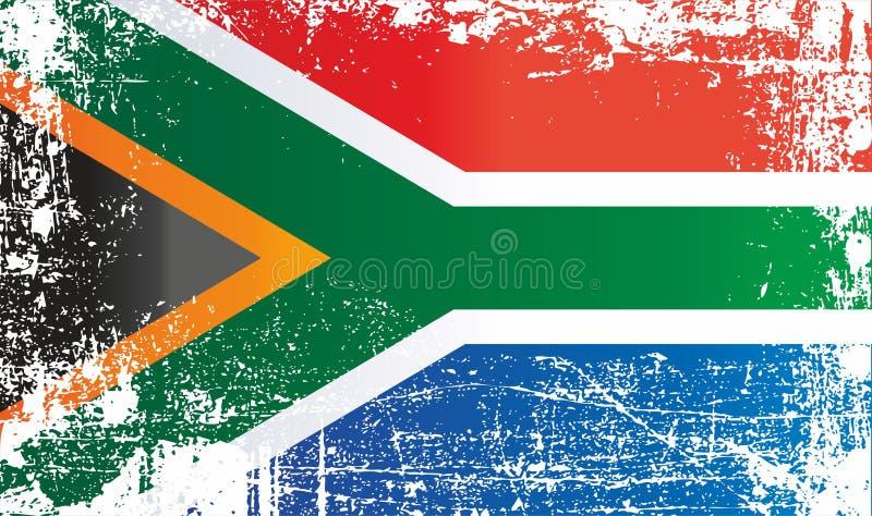 Bandera de Suráfrica, la República Surafricana Puntos sucios arrugados libre illustration