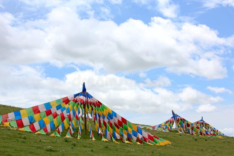 Bandera De Tíbet Imagen de archivo