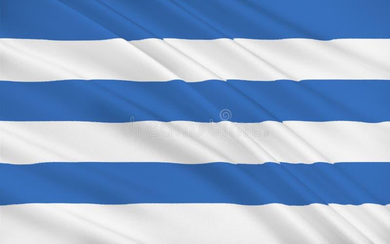 Bandera de Tallinn, Estonia stock de ilustración