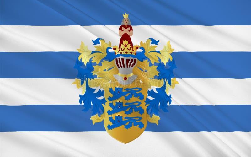 Bandera de Tallinn, Estonia ilustración del vector
