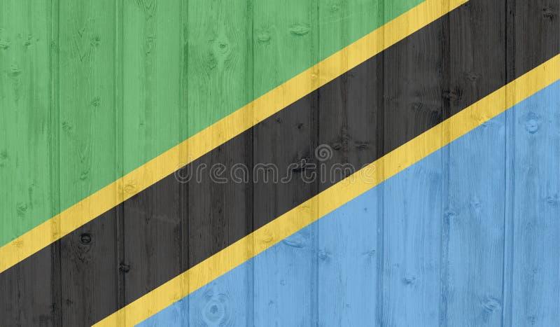 Bandera de Tanzania stock de ilustración