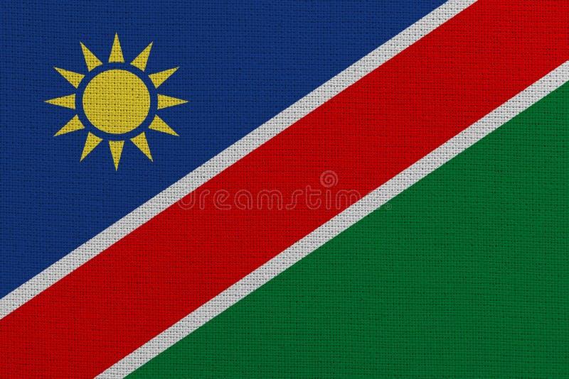 Bandera de tejido de Namibia foto de archivo libre de regalías
