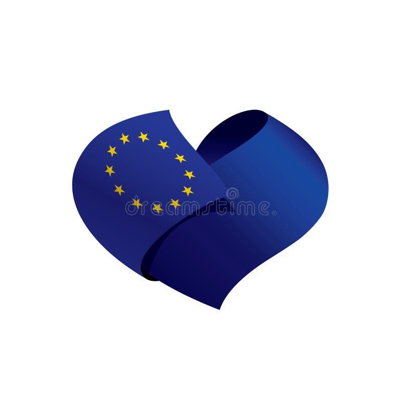 Bandera de unión europea, ejemplo del vector stock de ilustración