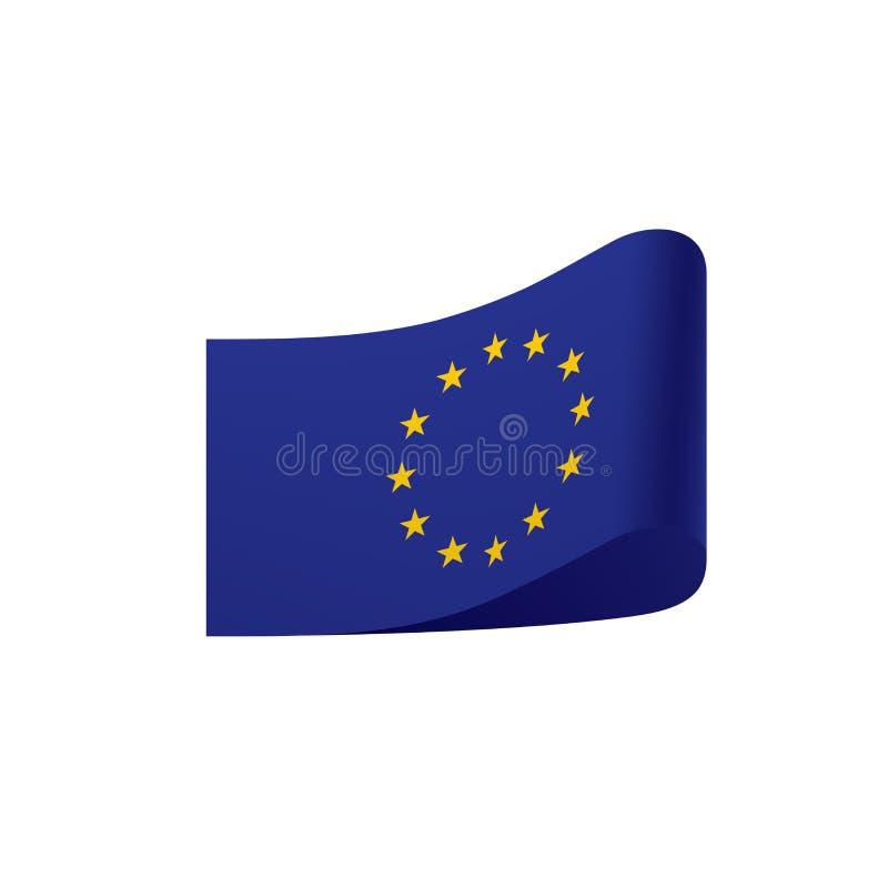 Bandera de unión europea, ejemplo del vector libre illustration