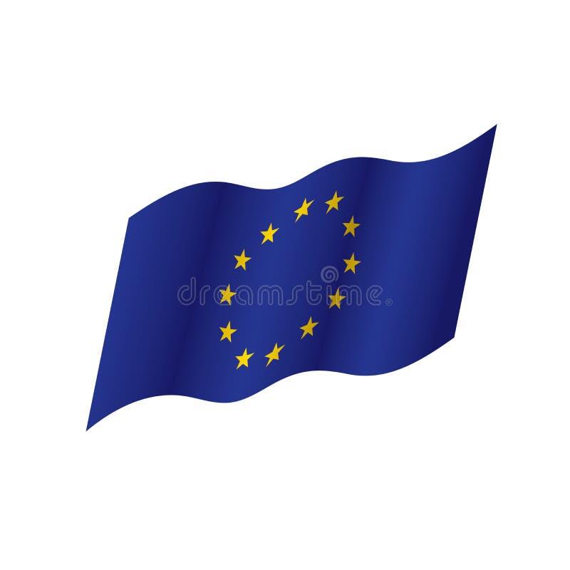 Bandera de unión europea, ejemplo del vector ilustración del vector