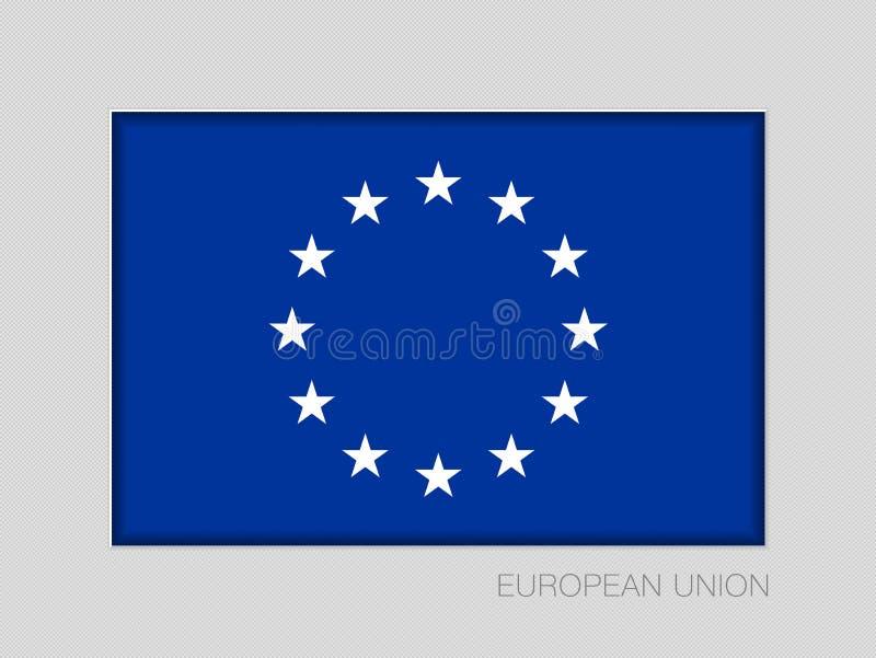 Bandera de unión europea monocromática de la versión Aspecto nacional R de la bandera libre illustration