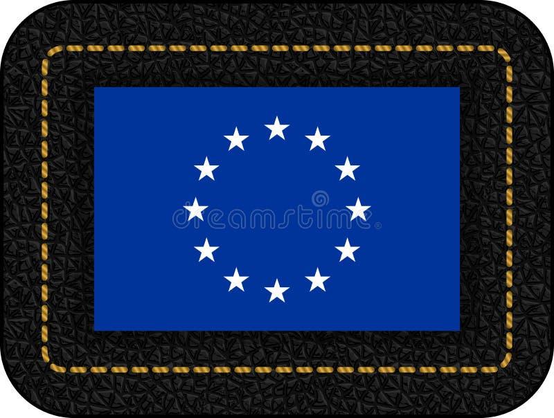Bandera de unión europea monocromática de la versión Icono del vector en pasto negro ilustración del vector