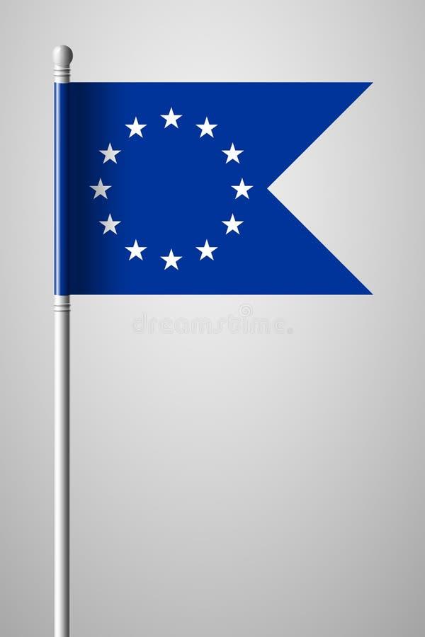 Bandera de unión europea monocromática de la versión Bandera nacional en Flagpol ilustración del vector