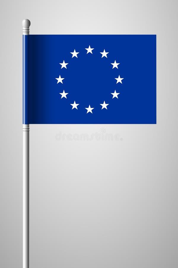 Bandera de unión europea monocromática de la versión Bandera nacional en Flagpol libre illustration