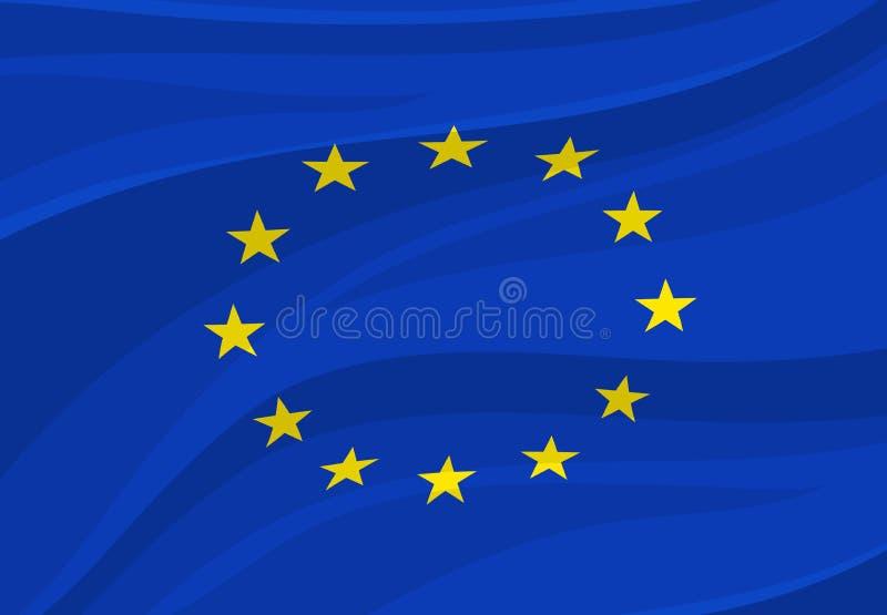 Bandera de unión europea Símbolo nacional de Europa del vector ilustración del vector