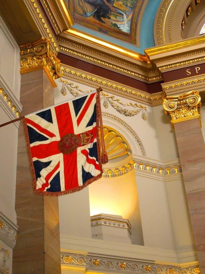 Bandera de unión real escocesa de Victoria Canada Parliament Interior Western fotos de archivo libres de regalías