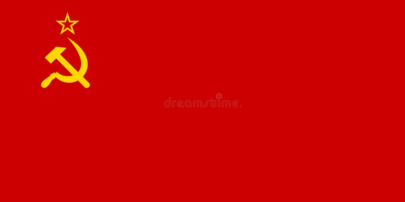 Bandera de Unión Soviética horizontal stock de ilustración
