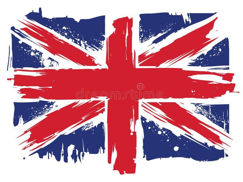 Bandera de Union Jack del Reino Unido ilustración del vector
