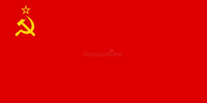 Bandera de URSS en colores oficiales y con la relación de aspecto de 1:2 libre illustration