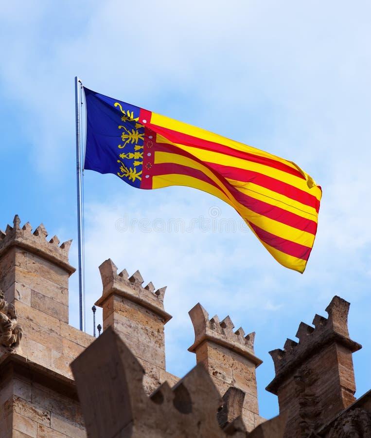 Bandera de Valencia foto de archivo libre de regalías