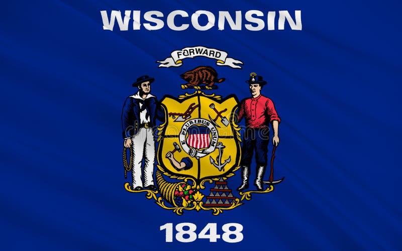 Bandera de Wisconsin, los E.E.U.U. libre illustration