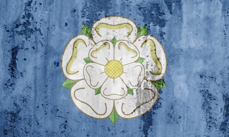 Bandera de Yorkshire stock de ilustración
