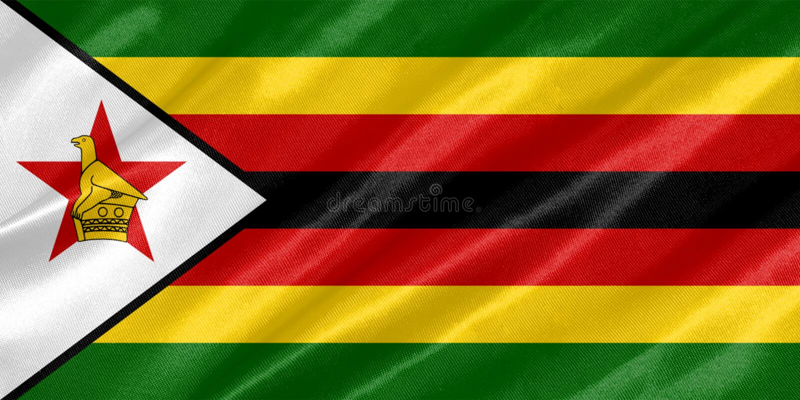 Bandera de Zimbabwe fotos de archivo