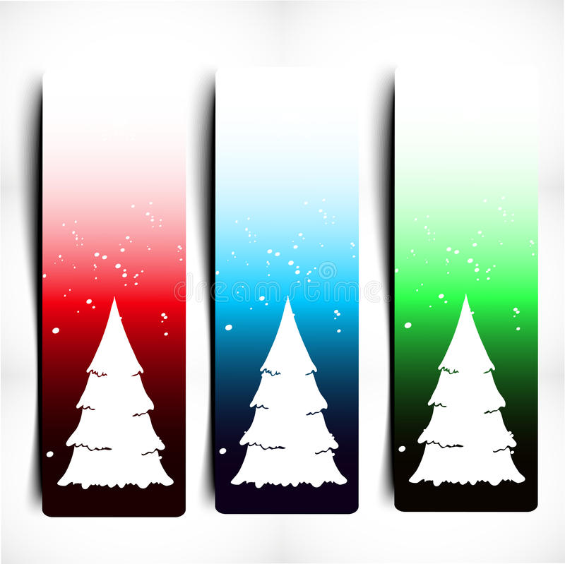 Bandera decorativa colorida de la Navidad stock de ilustración